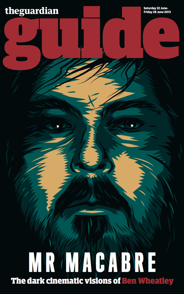a portrait of Ben Wheatley for the Guardian Guide cover by Matt Taylor-2