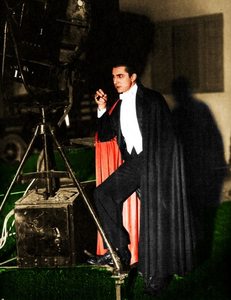 Blog_Behind the scenes Bela having a smoke. Dracula, 1931