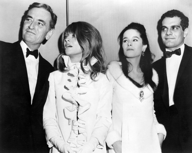 Director David Lean, Julie Christie, Geraldine Chaplin and Omar Sharif at the Doctor Zhivago premiere
