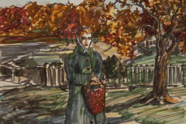 Drawing by Todd Haynes that served as inspiration for the character of Cathy Whitaker from Far From Heaven