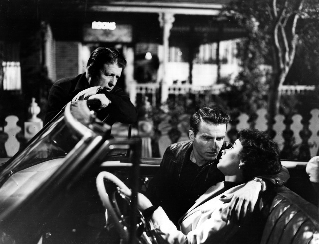 George Stevens, Montgomery Clift and Elizabeth Taylor onset of A Place in the Sun (1951)