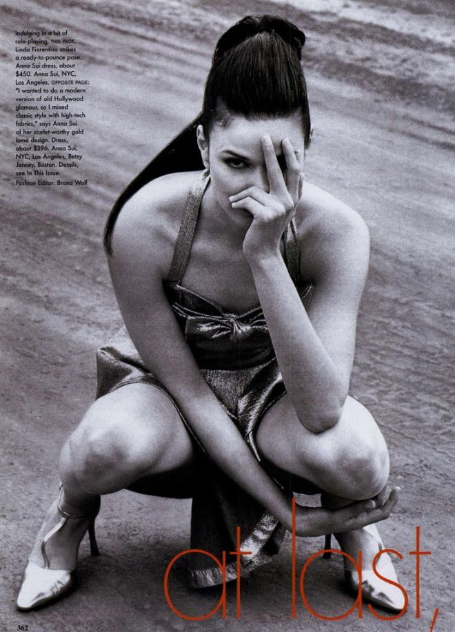 Linda Fiorentino  Photography by Herb Ritts For Vogue Magazine US April 1995 _2