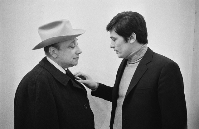 On the set of Le cercle rouge with Jean-Pierre Melville.