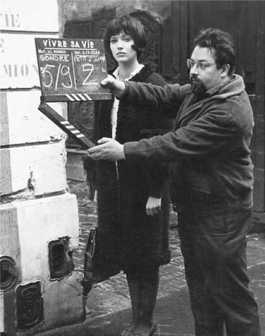 Anna Karina on the set of Vivre Sa Vie (1962, dir. Jean-Luc Godard).