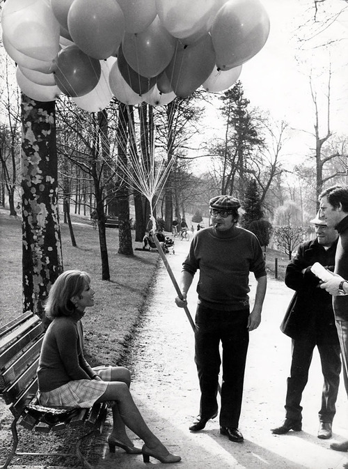 BLOG_Stéphane Audran and Claude Chabrol on the set of his film,La Rupture 1970