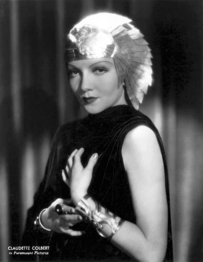 Claudette Colbert as Cleopatra in Cecil B. DeMille's Cleopatra 1934
