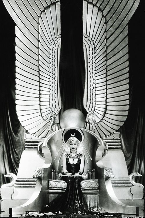 Claudette Colbert publicity still for Cecil B. DeMille's Cleopatra, 1934