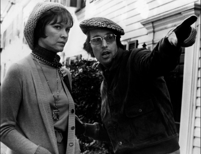 Ellen Burstyn and William Friedkin on-set of The Exorcist (1973)