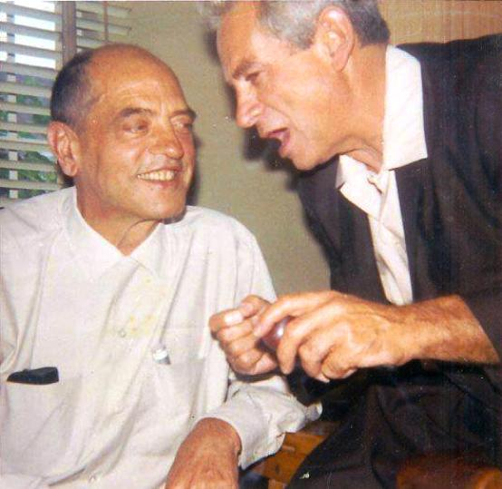 Luis Buñuel and Samuel Fuller, a mutual admiration. (Photo by Christa Lang.)