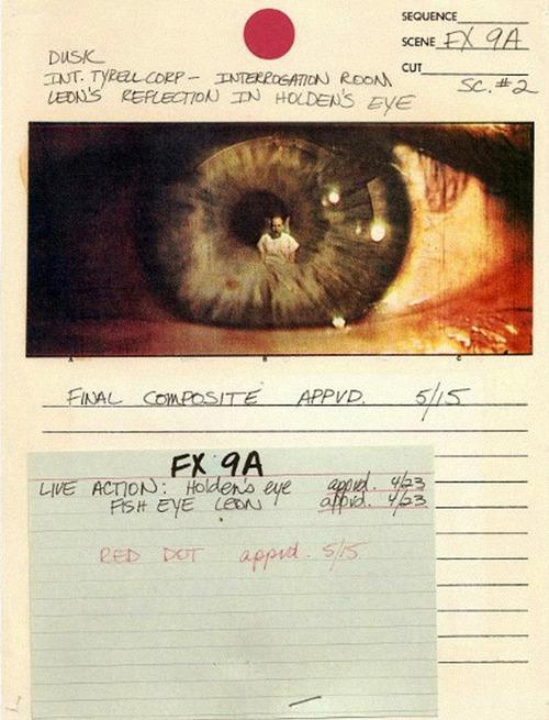 storyboards for Ridley Scott's epic 1982 film Blade Runner-2