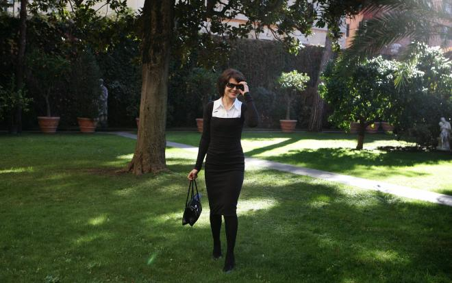 French actress Fanny Ardant poses during