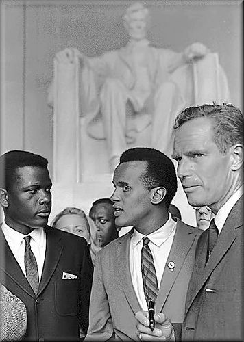 BLOG_Sidney Poitier, Harry Belefontd and Charles Heston at the 1963 Civil Rights March.