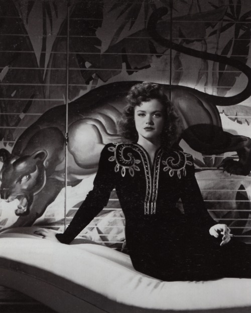 The ravishing Simone Simon in a publicity still from the original CAT PEOPLE.