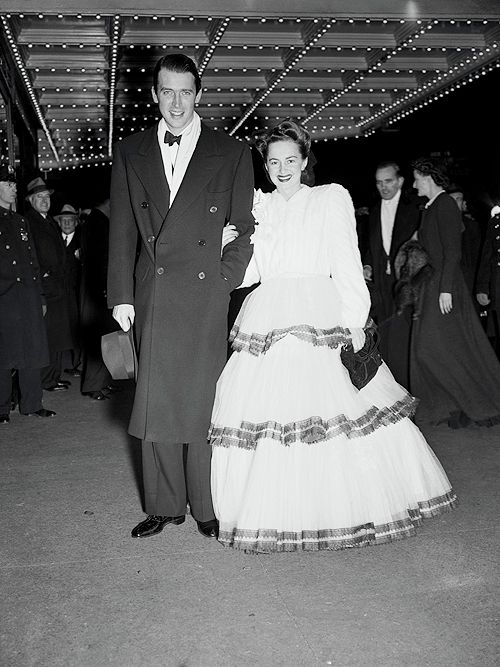 Jimmy Stewart and Olivia de Havilland at the New York premiere of Gone with the Wind, December 19, 1939