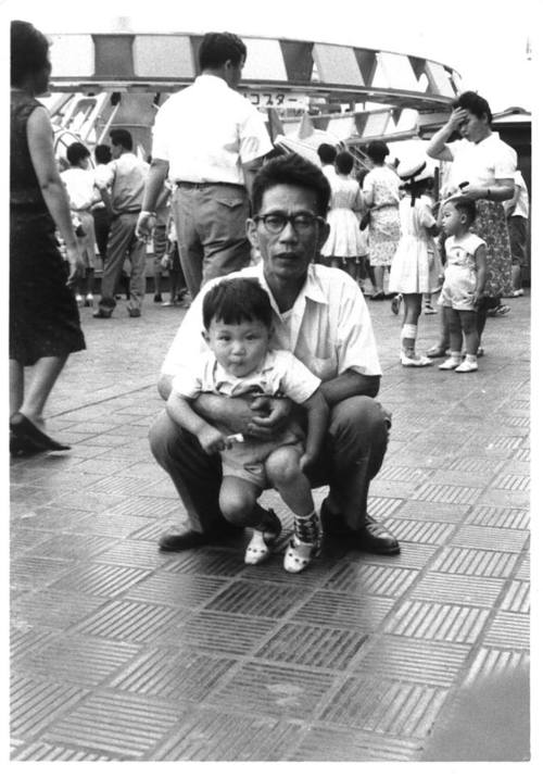 Young Hirokazu Koreeda and his father.