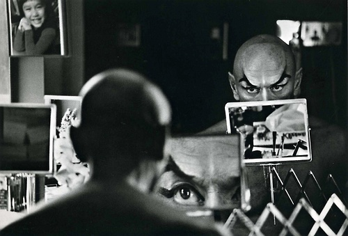 "Yul Brynner on the set of ""The King and I"" by Ernst Haas"
