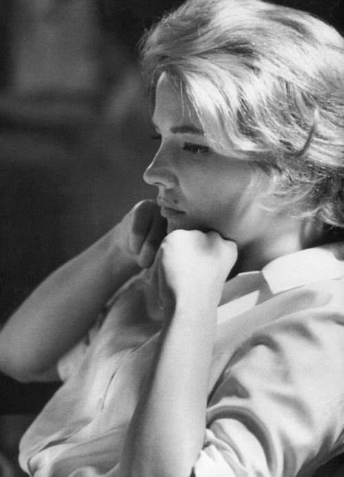 Gena Rowlands photographed by Leo Fuchs on the set of The Spiral Road (1962)