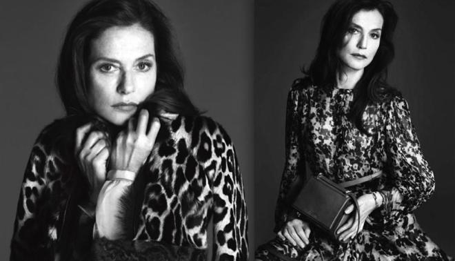Isabelle Huppert, Givenchy, in Vogue September 2014 issue_Leo Realism.