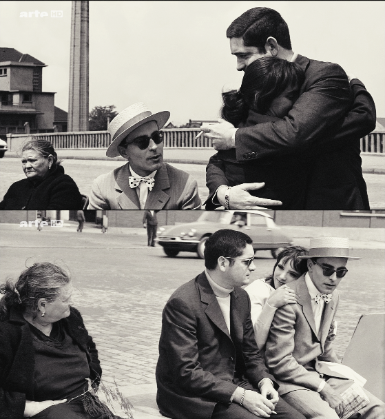Jacques Demy, Jean-Luc Godard and Anna Karina on the set of Cleo from 5 to 7,1962