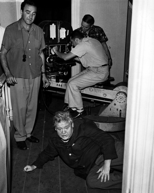 On The Set Of ' The Night Of The Hunter ' 1955-4