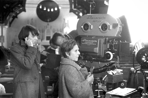 "On the set of ""Harold and Maude"" (1971)"