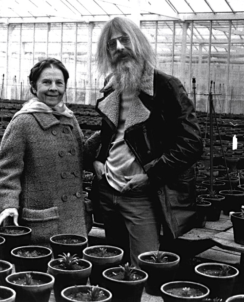 Ruth Gordon and Hal Ashby on the set of Harold and Maude c.1971