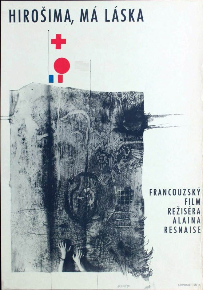 Hiroshima, mon amour (1959). Czech poster, designed by Bedřich Dlouhý.