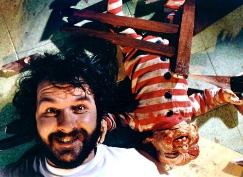 Peter Jackson on the set of Dead Alive AKA Braindead. -2