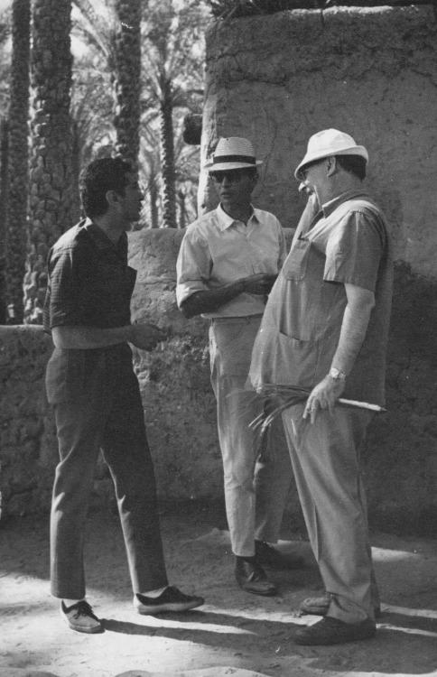 Roberto Rossellini with Shadi Abdel Salam & Youssef Chahine