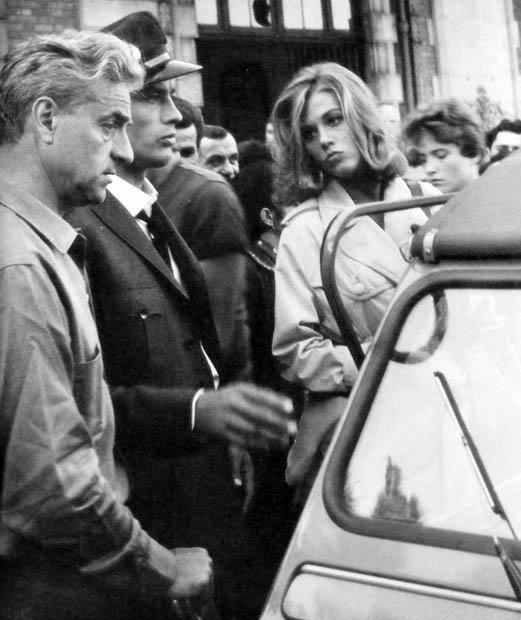 René Clément directs Alain Delon and Jane Fonda in Les félins