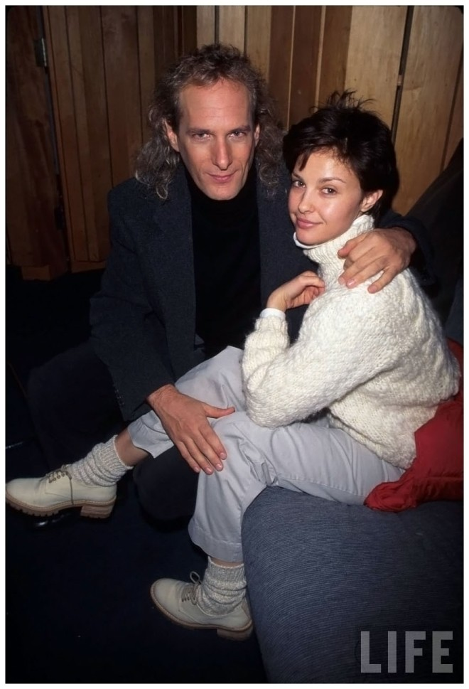 Singer Michael Bolton and actress Ashley Judd 1996