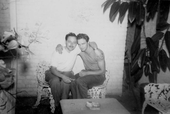 Tennessee Williams and Marlon Brando, 1948