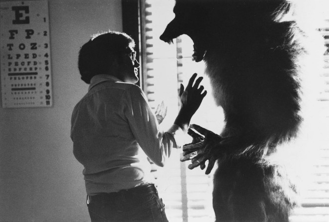 13- Dec Joe Dante on the set of The Howling.