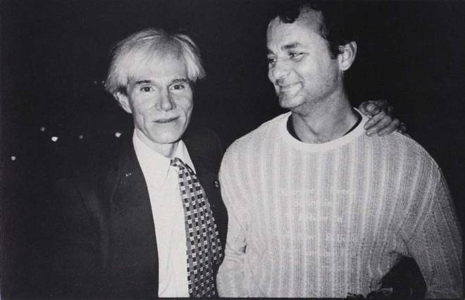 Andy Warhol and Bill Murray, 1981.
