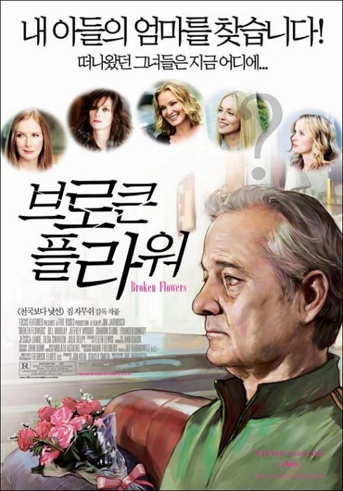 Broken Flowers (2005). Korean poster.