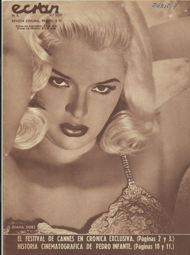 Diana Dors Ecran Magazine Cover