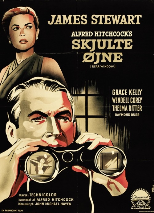 Rear Window danish poster, 1954.