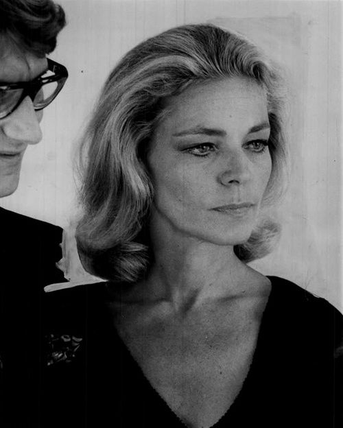 1968 - YSL & Lauren Bacall