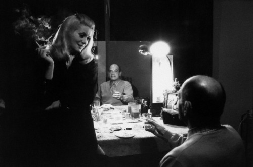 Catherine Deneuve and Luis Bunuel on the set of Belle de Jour (1967)-1