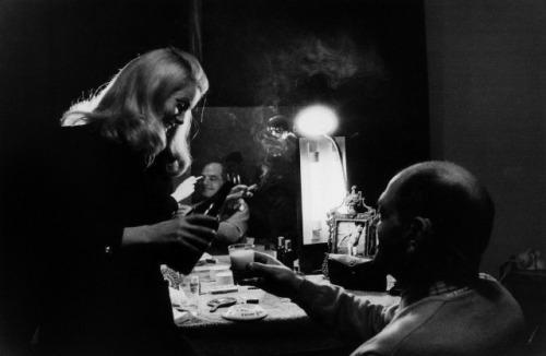 Catherine Deneuve and Luis Bunuel on the set of Belle de Jour (1967)-2