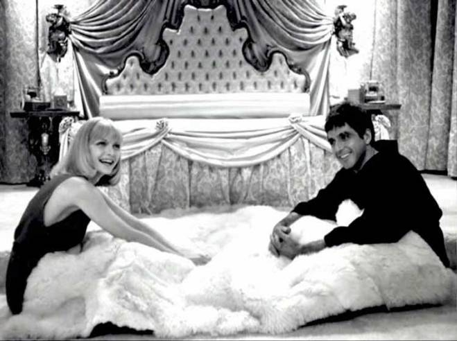 Michelle Pfieffer and Al Pacino on the set of Scarface.