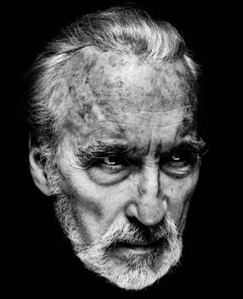 Sir Christopher Lee Photograph by Nadav Kader.