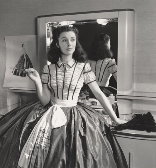 Vivien Leigh photographed in her trailer by Louise Dahl-Wolfe during the filming of Gone With the Wind.-1