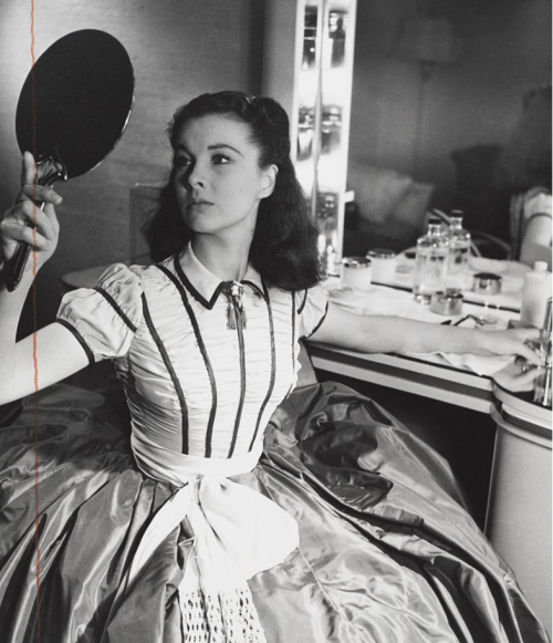 Vivien Leigh photographed in her trailer by Louise Dahl-Wolfe during the filming of Gone With the Wind.-2