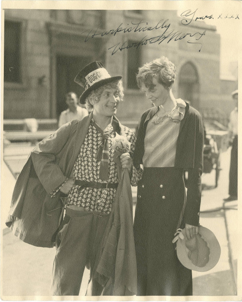 Harpo Marx and Amelia Earhart