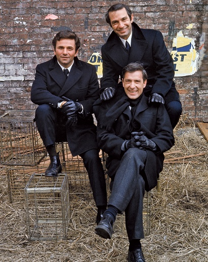 The Cassavetes Crew From left Peter Falk, Ben Gazzara, and John Cassavetes on the set of the 1970 film Husbands