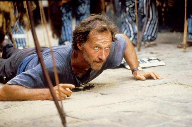 Werner Herzog on the set of Cobra Verde (1987).-3