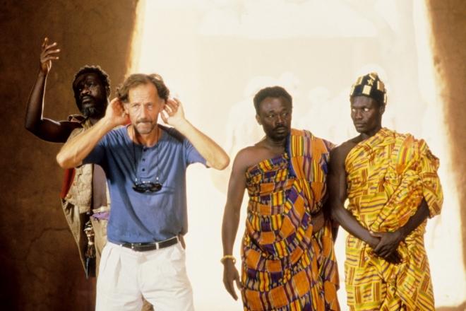 Werner Herzog on the set of Cobra Verde (1987).-4