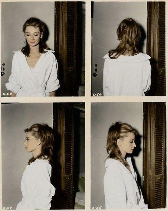 Audrey Hepburn's Breakfast at Tiffany's hair test Polaroid
