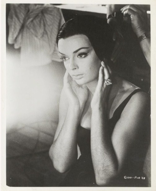 Barbara Steele on the set of The Pit And The Pendulum (1961)